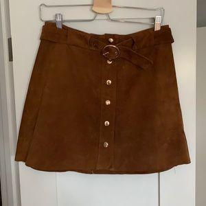 Zara Brown Suede mini skirt